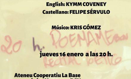 #PoémameBcn, festival poético: 16 enero 2020